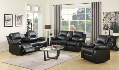 [SPECIAL] Galinda Black Reclining Living Room Set | 110100