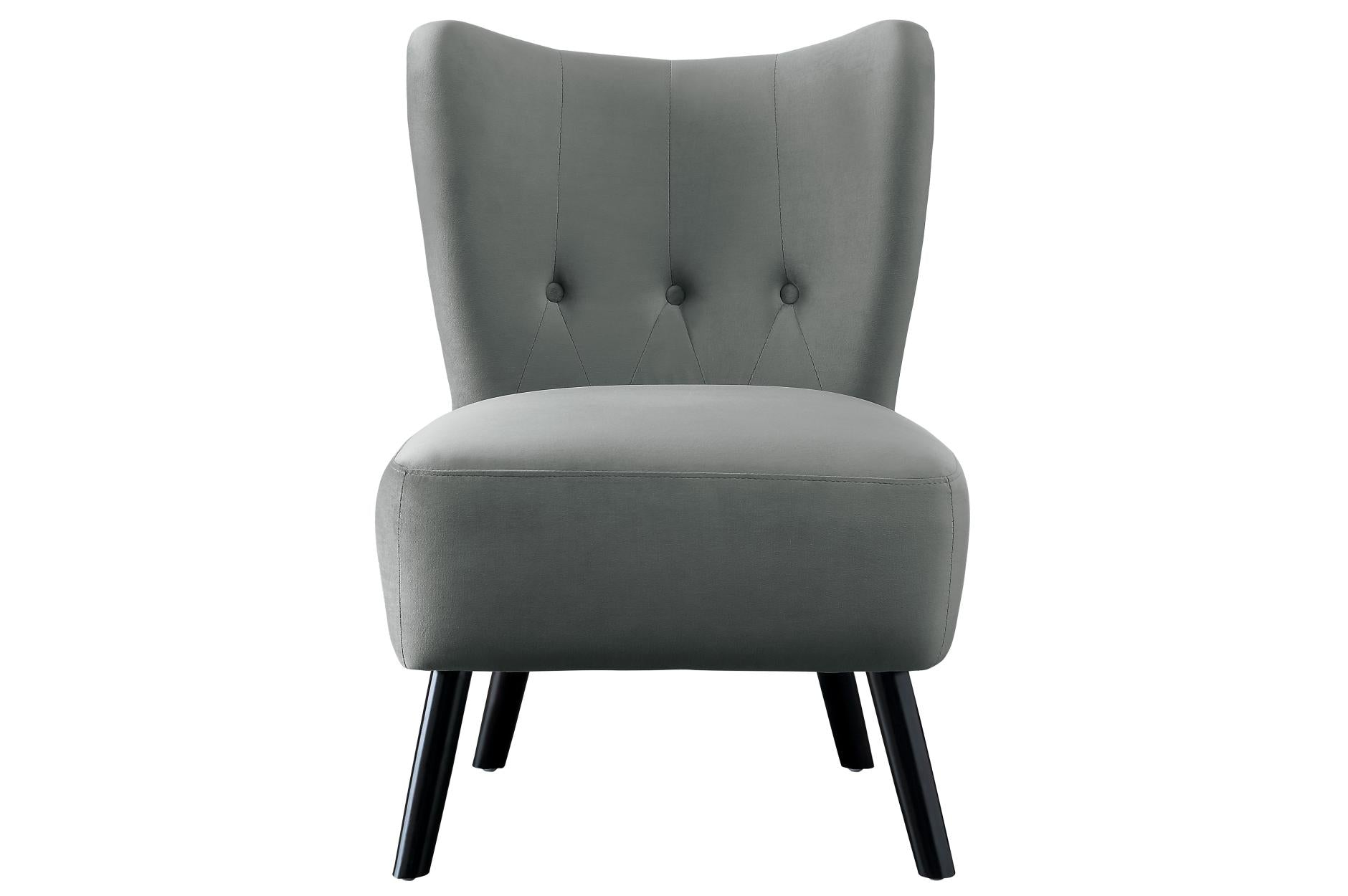 Admirable Imani Gray Accent Chair Gmtry Best Dining Table And Chair Ideas Images Gmtryco