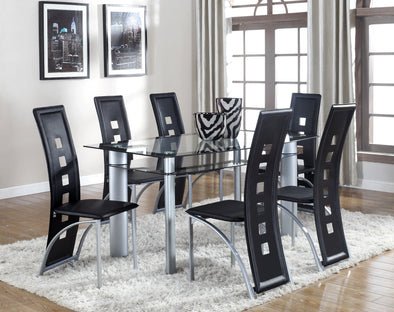 Echo Black/Gray Glass Dining Table - Luna Furniture
