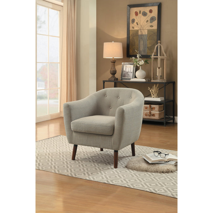 [MONTHLY SPECIAL] Lucille Beige Accent Chair | 1192 - Bellaria Furniture HomeStore