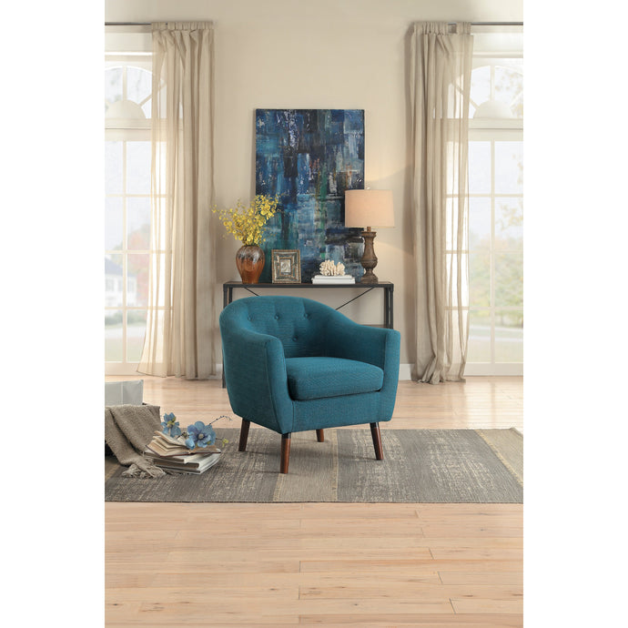 [MONTHLY SPECIAL] Lucille Blue Accent Chair | 1192 - Bellaria Furniture HomeStore