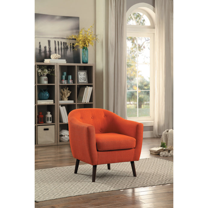 [MONTHLY SPECIAL] Lucille Orange Accent Chair | 1192 - Bellaria Furniture HomeStore