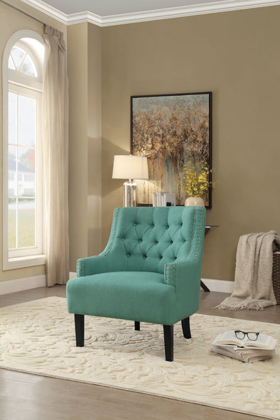 Charisma Teal Accent Chair - Luna Furniture