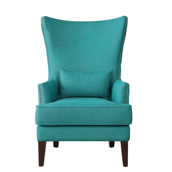 Avina Teal Accent Chair with Kidney Pillow - Luna Furniture