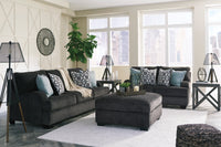 Charenton Charcoal Living Room Set - Luna Furniture