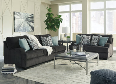 Charenton Charcoal Living Room Set