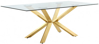 Capri Gold/Glass Dining Table - Luna Furniture