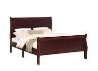 Louis Philip Cherry Queen Sleigh Bed - Luna Furniture