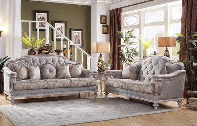 Amancio Antique White Living Room Set