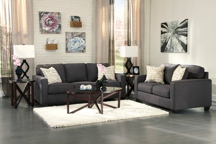 Alenya Charcoal Living Room Set