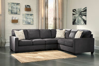 Alenya Charcoal RAF Sectional - Luna Furniture