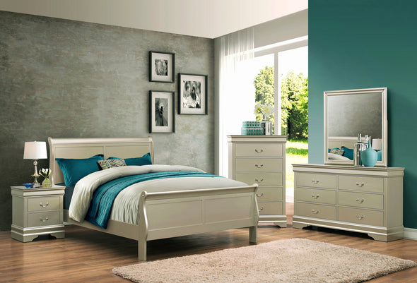 Louis Philip Champagne King Sleigh Bed - Luna Furniture