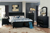 Laurelin Black Queen Storage Platform Sleigh Bed - Luna Furniture