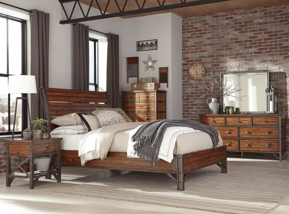 Holverson Brown Platform Bedroom Set - Luna Furniture