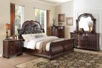 Cavalier Brown Sleigh Bedroom Set - Luna Furniture