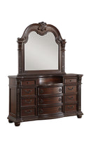 Cavalier Brown Marble Insert Dresser - Luna Furniture