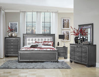 Allura Gray LED Panel Bedroom Set - Luna Furniture