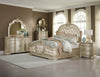 Antoinetta Champagne Queen Panel Bed - Luna Furniture