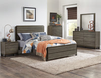 Vestavia Gray King Panel Bed - Luna Furniture