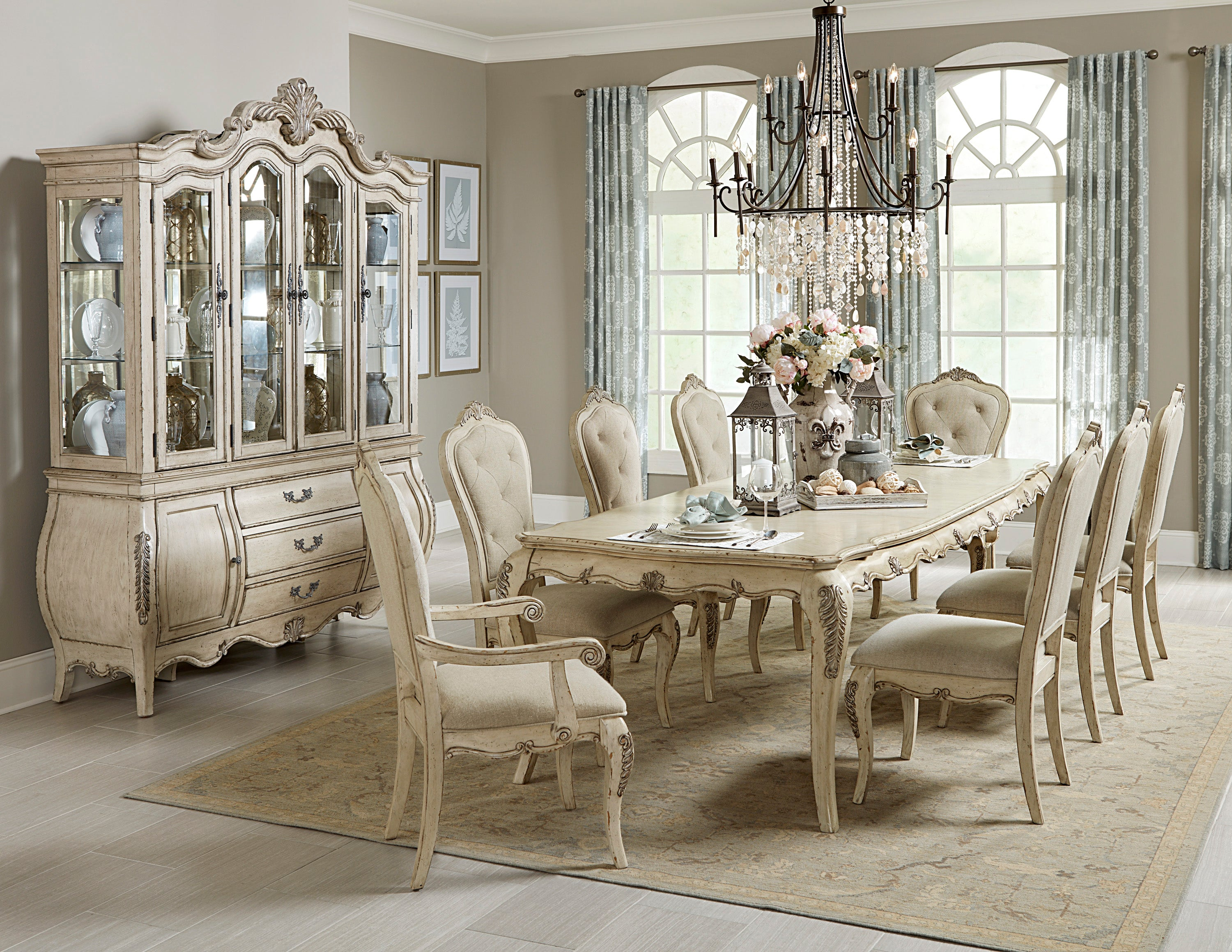 Special Elsmere Antique Gray Dining Room Set From Homelegance Luna Furniture