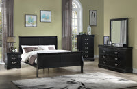 Louis Philip Black Sleigh Bedroom Set *** - Luna Furniture