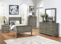 Louis Philip Gray Youth Sleigh Bedroom Set *** - Luna Furniture