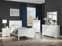Louis Philip White Youth Sleigh Bedroom Set *** - Luna Furniture