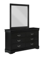 Louis Philip Black Dresser - Luna Furniture