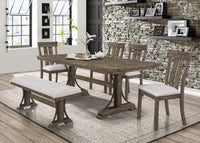 Quincy Grayish Brown Rectangular Dining Table - Luna Furniture