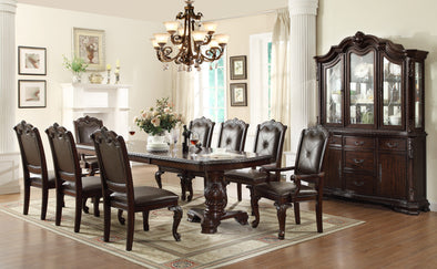 Kiera Brown Formal Dining Table - Luna Furniture