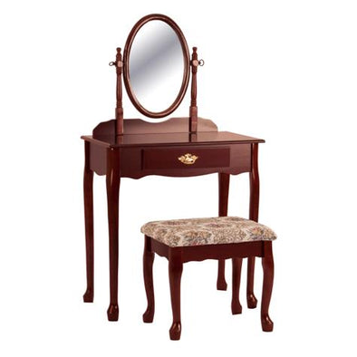 Oval Cherry Vanity Set