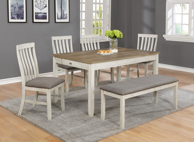 Nina White Rectangular Dining Table - Luna Furniture