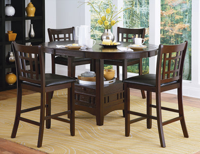Junipero Dark Cherry Extendable Counter Height Set | 2423