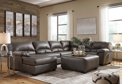 Aberton Gray LAF Sectional - Luna Furniture