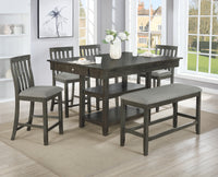 Nina Gray Counter Height Set - Luna Furniture