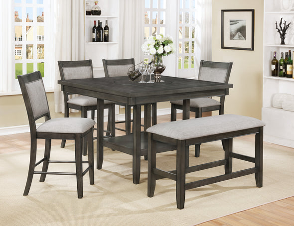 Fulton Gray Counter Height Set - Luna Furniture