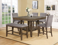 Manning Brown Counter Height Set - Luna Furniture