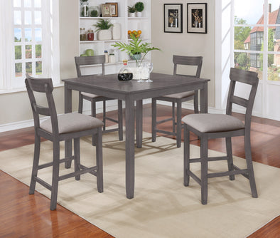Henderson Gray 5-Piece Counter Height Set
