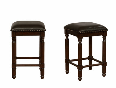 "Chadwick 24"" Espresso Counter Height Stool, Set of 2"