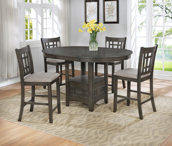 Hartwell Gray Counter Height Set - Luna Furniture