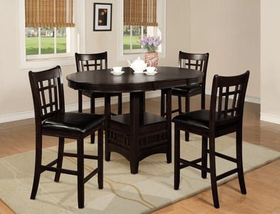 Hartwell Brown Extendable Oval Counter Height Table - Luna Furniture