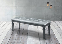 Allura Gray Bedroom Bench - Luna Furniture