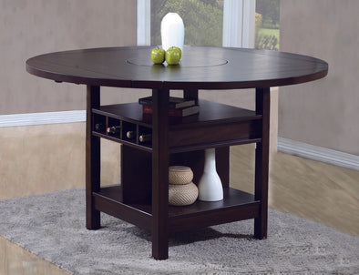 Conner Espresso Round/Square Counter Height Dining Set | 2849