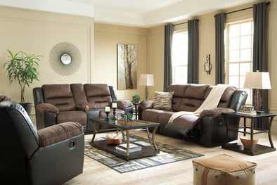 [SPECIAL] Earhart Chestnut Reclining Living Room Set - Luna Furniture