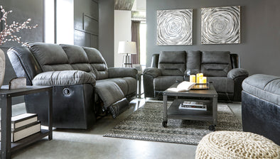 [SPECIAL] Earhart Slate Reclining Living Room Set - Luna Furniture