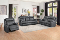 Yerba Gray Microfiber Double Lay Reclining Living Room Set - Luna Furniture