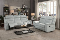 Darwan Light Gray Reclining Living Room Set - Luna Furniture
