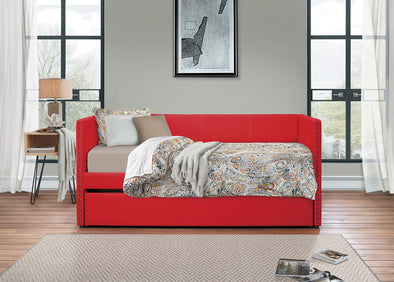 Therese Red Daybed with Trundle | 4969