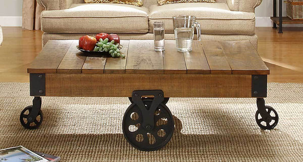 Factory Rustic Brown Cocktail Table - Luna Furniture