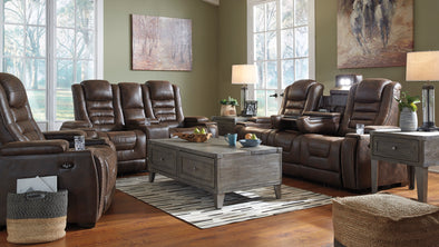 [SPECIAL] Game Zone Bark Power Reclining Living Room Set with Adjustable Headrest - Luna Furniture